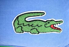 Pair of Lacoste Alligator Embroidered Pinwale Corduroy Oversize Pillows