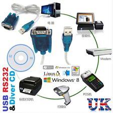 USB 2.0 A PORTA SERIALE RS232 DB9 9 Pin Cavo Adattatore Convertitore Maschio PDA GPS VGA