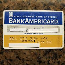 Vintage BankAmericard Credit Card  First National Bank of Oregon Expired 1970