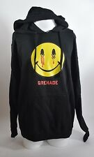 2016 NWOT MENS GRENADE RAD DAY PULLOVER HOODIE $50 L black cotton gloves soft