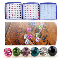 20Pairs Wholesale Bulks Lots Crystal Earring Stud 1Box Allergy Free Neddle Gifts