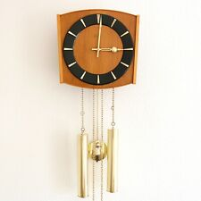 JUNGHANS Vintage Wall Clock LOUDSPEAKER! Chime SPECIALTY 1960s Germany SERVICED!