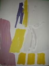 Pierre PALLUT Lithographie 1972 Signée Art Abstrait Abstraction Lyrique