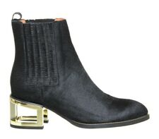 Jeffrey Campbell Dempsey Leather Calf Hair Boots - UK 6/39