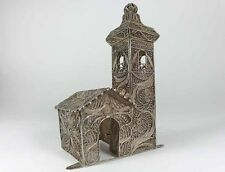 SELTEN!!!!  JUDAICA  Besamimbüchse Dose Filigran Silber, um 1860-1880