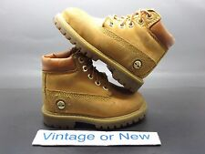 VTG Timberland 6 Inch Premium Wheat Gold Waterproof Nubuck Boots Toddler sz 6
