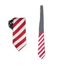 Cravatta da Uomo Bandiera Americana Stelle Strisce Costume UK