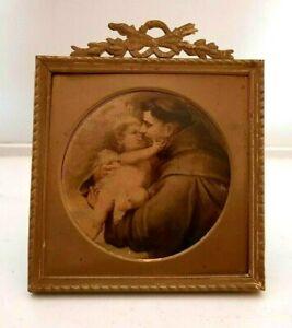 Antique Vintage Miniature Gilt Brass Picture Frame