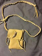 Native American Medicine bag Badger claw cherokee leather possibles  pow wow