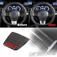 Carbon Fit For Subaru WRX STI Steering Wheel Badge Emblem Speaker Sticker