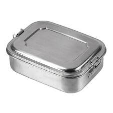 Mil-Tec Lunchbox Edelstahl Silber 1200ml Brotdose Brotbüchse Metalldose
