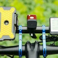 20cm Fahrrad Taschenlampe Halter Lenker Extender Halterung Fahrradzubehör B I0G2