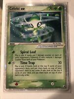 Pokemon EX Unseen Forces Celebi EX Secret Rare #117/115 Near Mint