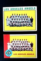 1963 & 1964 TOPPS Vintage BASEBALL  Los Angeles ANGELS TEAM CARDS   dean chance