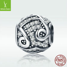 a386e64f1 925 Sterling Silver Musical Charm Bead Bright Note For Necklace Lucky  Present