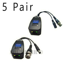 5 Pair Cctv Coax Bnc Video & Power Balun Transceiver to Cat5e 6 Ahd Cvi Tvi Dvr