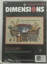 """Dimensions 6736 And They Came... Stamped Cross Stitch Kit Noah's Ark 5""""x7"""""""