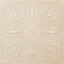 Faux Finish Styrofoam Ceiling Tile R9 Designer Champagne White Painted