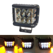 2X Car 12 LED Work Light Bar Emergency Warning Strobe Flashing Lamp White Yellow
