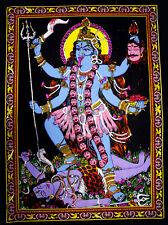 Religious Goddess Kali Ma Batik Wall Hanging Painting Sequin Work Medium ASBM014