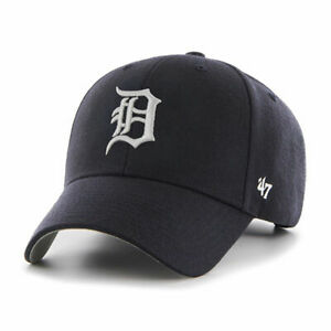 Detroit Tigers Cap MLB Baseball 47 Brand Kappe Klettverschluß Dunkelblau