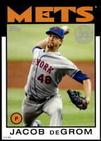 Jacob deGrom 2021 Topps 5x7 1986 Baseball 35th Anniversary #86B-62 /49 Mets