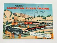 1957 Gilbert American Flyer Model Train Catalog with 48 Color Pages of Trains  B