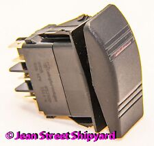 3 Position 7 Terminal DPDT Lighted Carling Contura Rocker Switch On/Off/On 12981