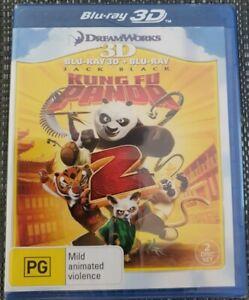 Kung Fu Panda 2 3D Blu-ray + Blu-ray (2 Disc Set) Brand New Sealed