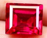 """8.15 CT Burma""""s Natural Red Ruby Square Shape Certified Loose Gemstone OF8682"""