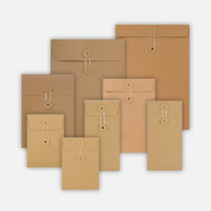 Quality All Size String & Washer Envelopes Button&Tie Manilla Fast Delivery
