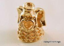 NWT AUTHENTIC PANDORA 14K GOLD CHARM ANGEL OF GRACE #750999  HINGE BX  RETIRED