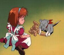 Nadia The Secret of Blue Water Anime Production Cel King Marie Playing Miyazaki