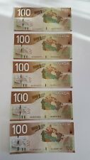 BANK OF CANADA 2004- 5 $100, CANADIAN BANK NOTES FOR $650 ALL ARE 4 DIGIT NOTES