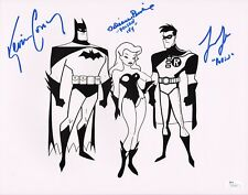 """KEVIN CONROY & LOREN LESTER+1 Hand-Signed """"Batman Animated Series"""" 11x14 photo"""