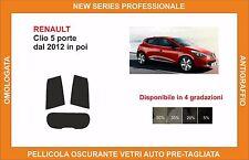pellicola oscurante vetri renault clio 5 porte dal  2012 in poi kit posteriore
