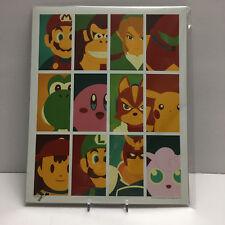 Nintendo Mash Up 8x10 Art Print /2000 Artist Signed Bam Box Exclusive