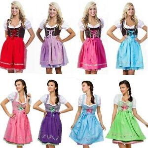 Adult Womens Dirndl Dress Traditional Oktoberfest Costume