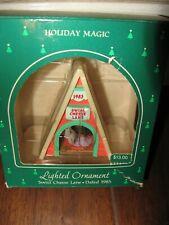 Hallmark Lighted Ornament Holiday Magic Swiss Cheese Lane 1985 Nib