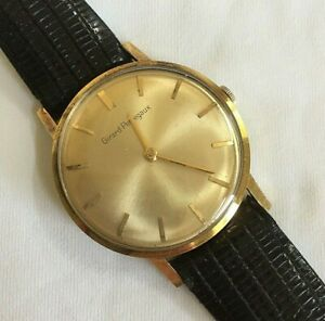 Girard Perregaux 18K Yellow Gold Vintage Men's Watch17 Jewels, Running