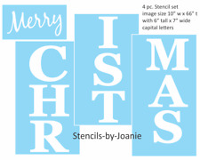 """Joanie 68"""" STENCIL Vertical Holiday Winter Merry Christmas Porch Home Decor Sign"""