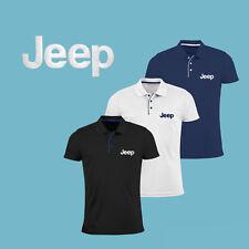 JEEP Camiseta Camisa Polo T Shirt BORDADO Auto Logo Ajustado Tee Hombre Regalo