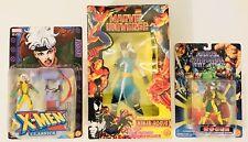 "Marvel Toybiz ROGUE Toy Figure Lot:Upper Cut Action + 10"" Ninja + X-Men Classics"