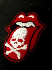 Rolling Stones Skull & Bones Logo Patch No Filter Tour Iron On Sew Hoodie Jacket