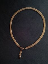 Victorian Mesh Rose Gold filled Necklace matching pendant/Collier m. remolque