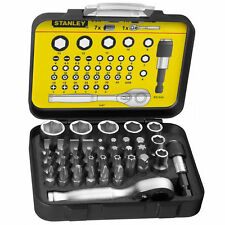 Stanley FatMax 39 Screwdriver Ratchet Bit Set Tamperproof Torx Hex Pz Ph Flat
