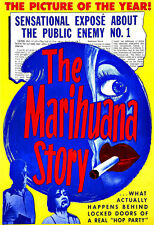 Art Ad Public enemy no1 Marihuana Story 1950 Poster Print