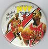 "1988 Michael Jordan MVP photo button 3"" original pin 1980's rare Chicago Bulls"