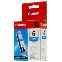 Canon BCI-6C Cyan Ink Cartridge 4706A003 Genuine New Sealed Box