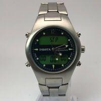 Dakota Mens Multifunction Chronograph Silver Quartz Analog Digital Wristwatch